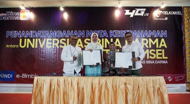 Telkomsel – Universitas Bina Darma Jalin Sinergi