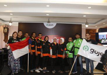 Tiba di Palembang, Tim Kirab Kenalkan Logo Baru GOJEK