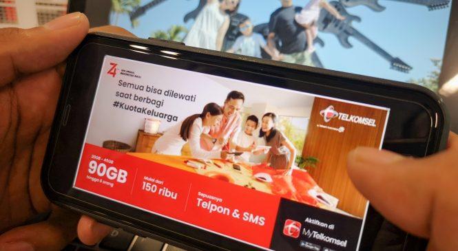 Paket Hingga 90GB Kuota Internet, Telepon dan SMS Tanpa Batas
