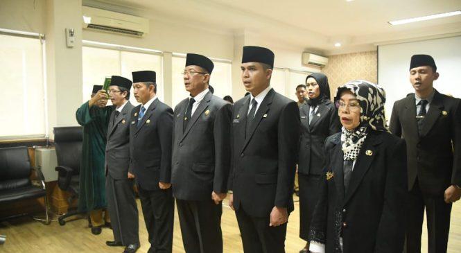 Mawardi Yahya Lantik 9 Pejabat Baru di Lingkungan Pemprov Sumsel