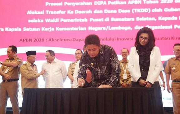 Dana Transfer  Daerah di Sumsel Capai Rp30,28 Triliun