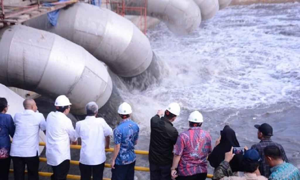 Kurangi Titik Banjir, Pompa Bendung Ujicoba 30 Desember