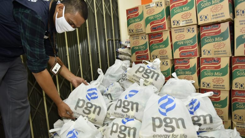 PGN Salurkan Bantuan Sembako Dapur Umum Penanganan COVID-19 dan Komunitas Pengguna Gas Transportasi