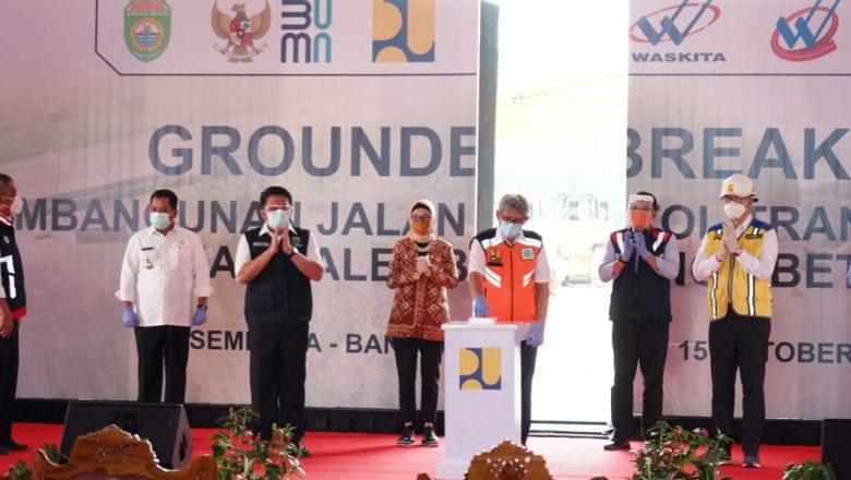 Groundbreaking, Tol Palembang-Betung Resmi Dibangun
